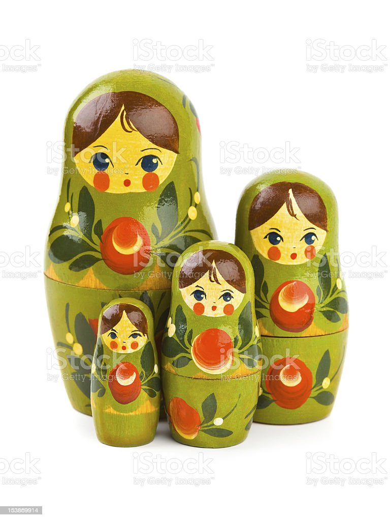 Russian retro toy matrioska royalty-free stock photo