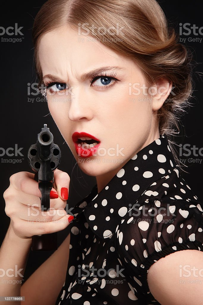 Russian roulette royalty-free stock photo