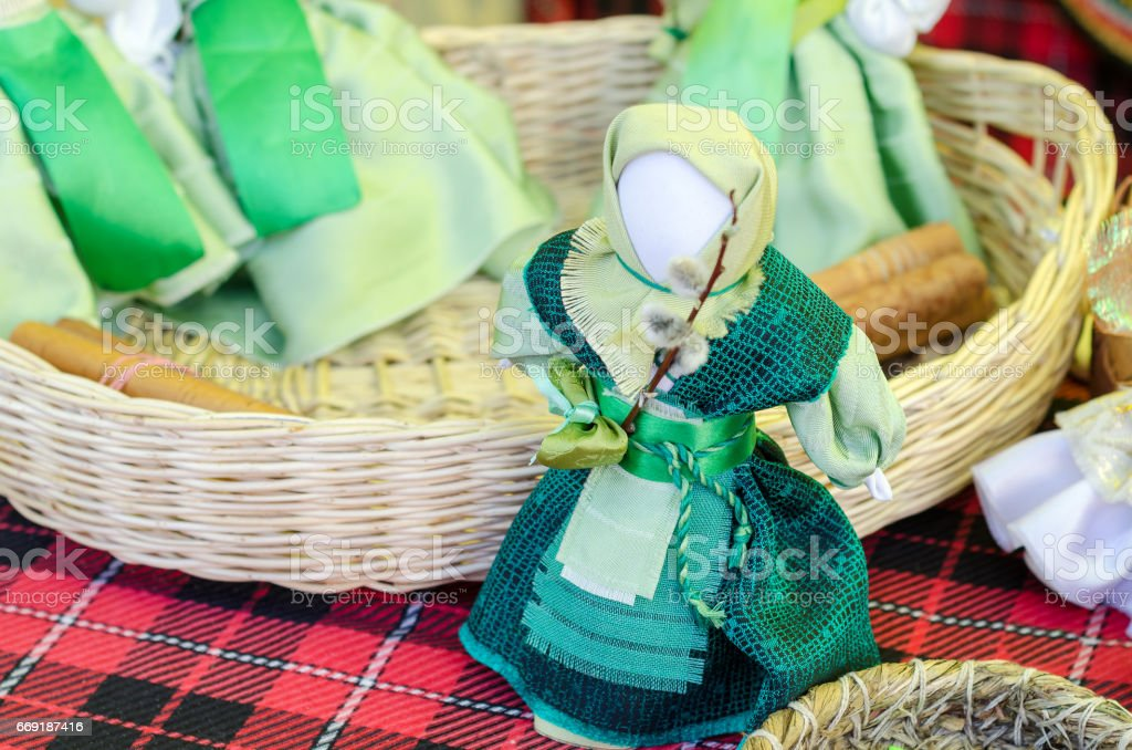 Russian rustic charms handcrafted stock photo