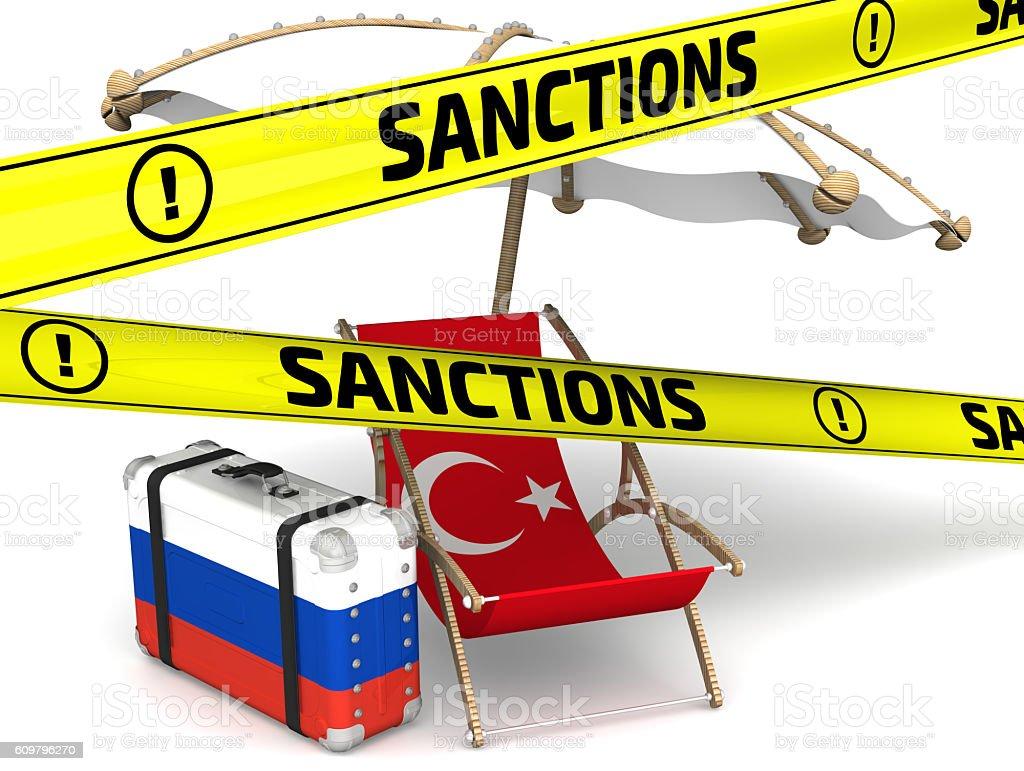 Russian sanctions against Turkey. Concept stock photo
