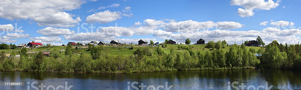 Russian small village in Karelia royalty-free stock photo