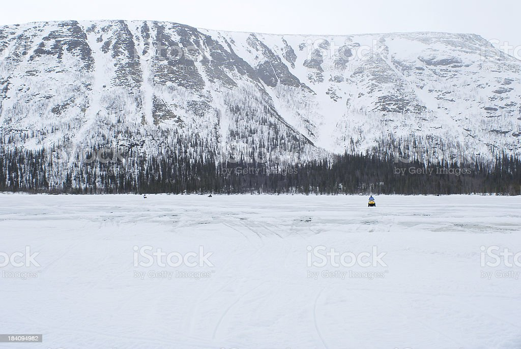 Russian Snowmobile royalty-free stock photo
