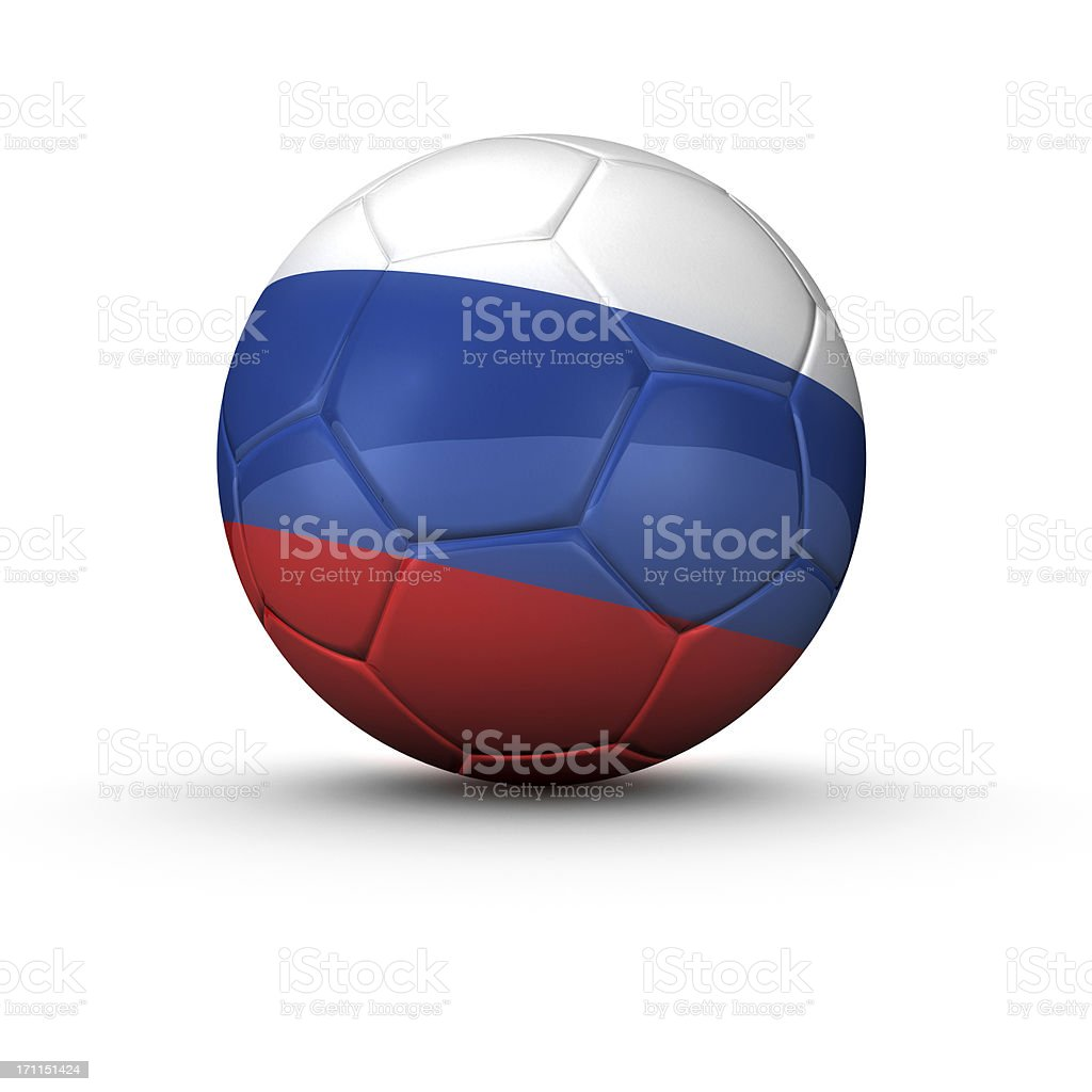 russian soccer ball royalty-free stock photo