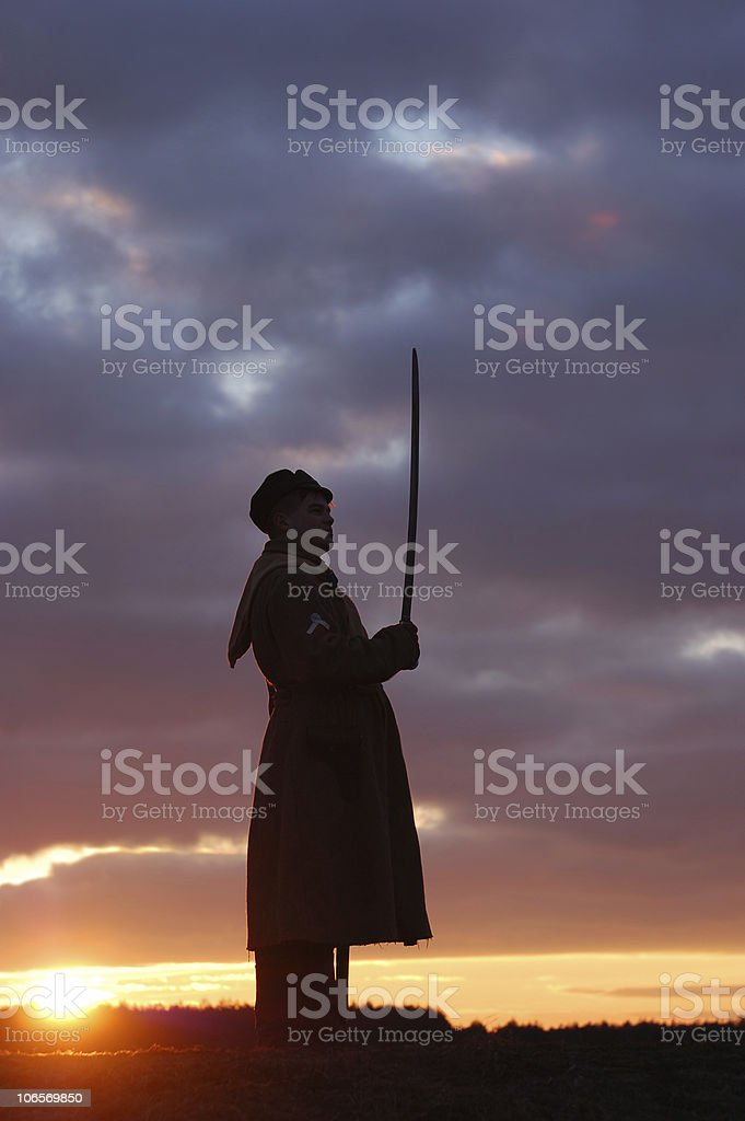 Russian soldier 1918 royalty-free stock photo