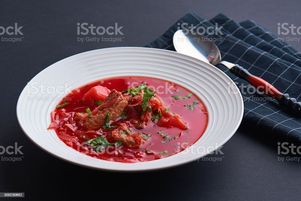 Russian soup stock photo
