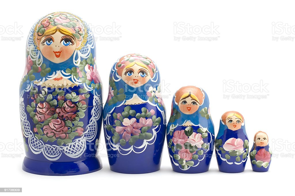 Russian souvenir close up royalty-free stock photo
