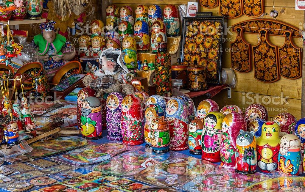 Russian souvenirs stock photo