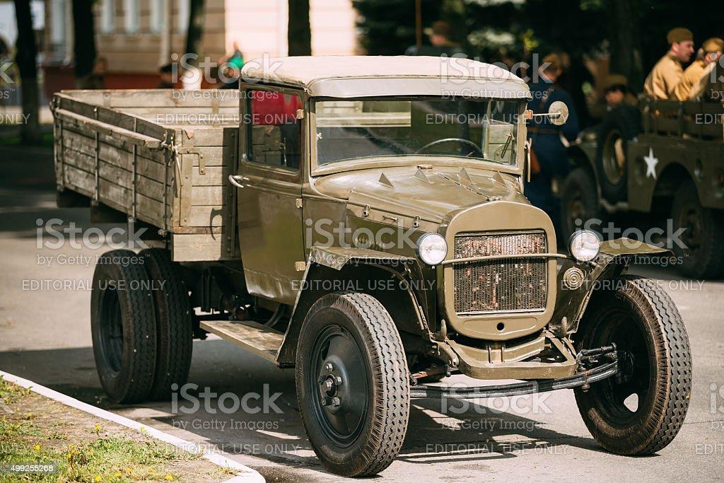 Russian soviet army military truck ZIS-5 outdoor stock photo