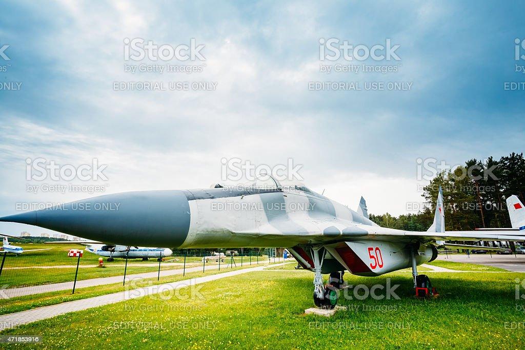 Russian Soviet multipurpose frontline fighter  fourth generation stock photo