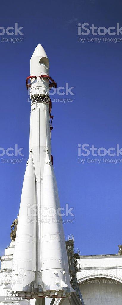 Russian space rocket Vostok stock photo