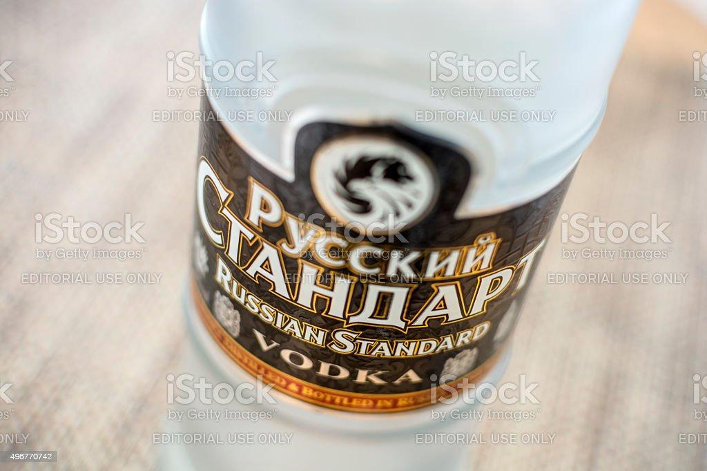 Russian Standard Vodka stock photo