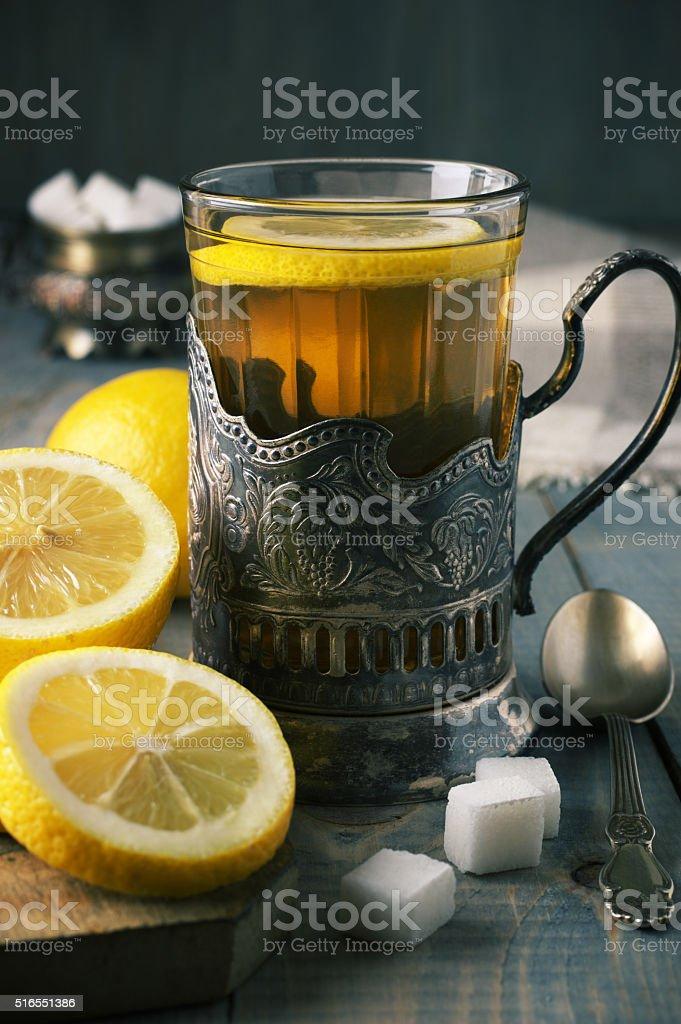 Russian style tea stock photo