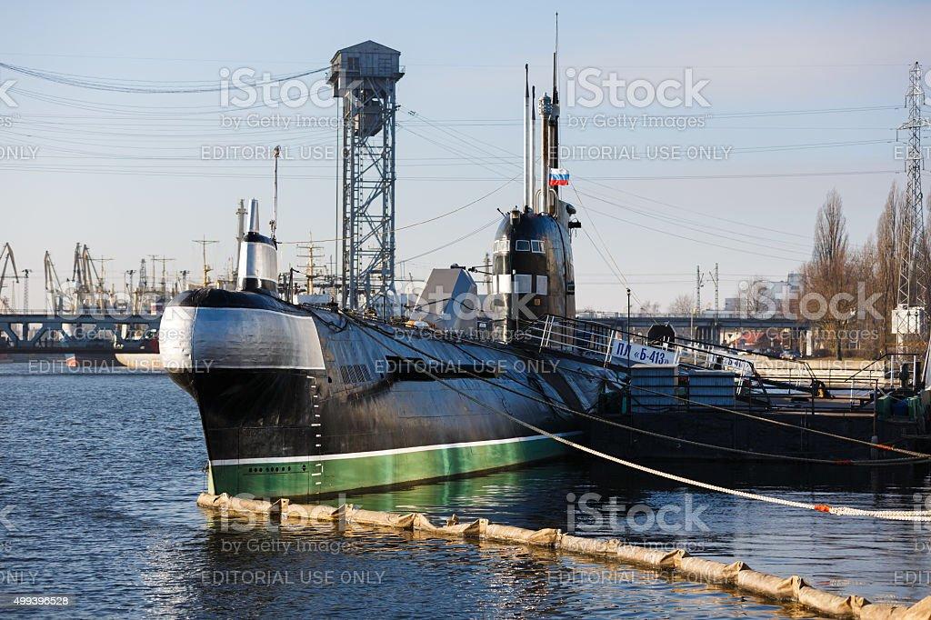Russian submarine B-413 stock photo