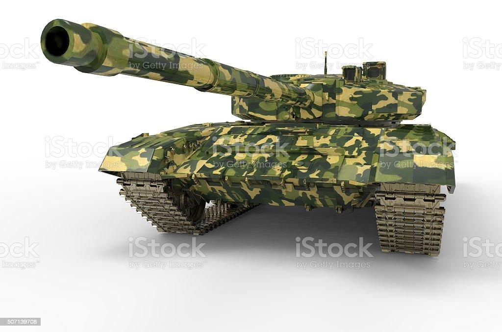 russian Tank near isolated stock photo