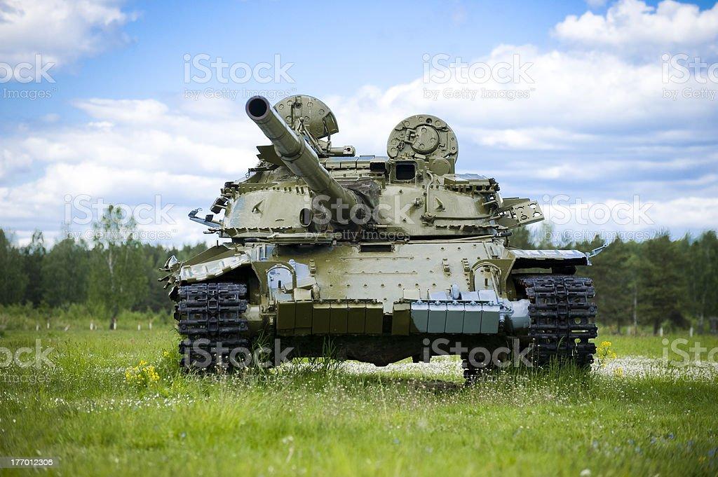 Russian tank royalty-free stock photo