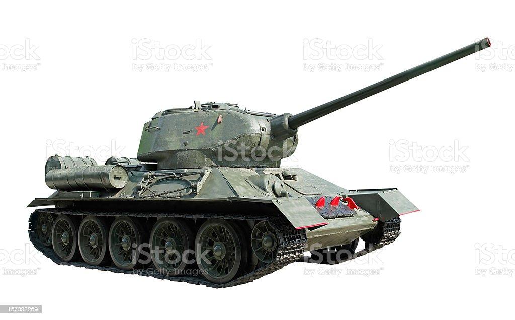Russian Tank T34 stock photo