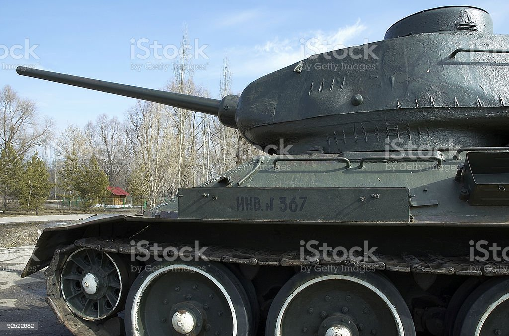 Russian tank T-34 stock photo