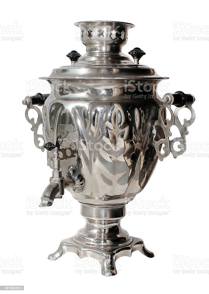 Russian tea (Samovar) stock photo