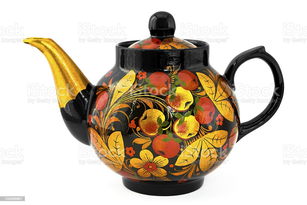 Russian Teapot stock photo