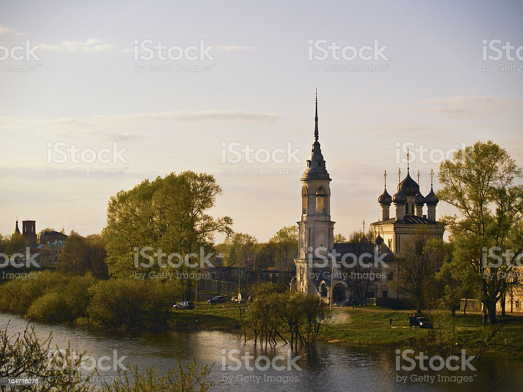 Russian Town royalty-free stock photo