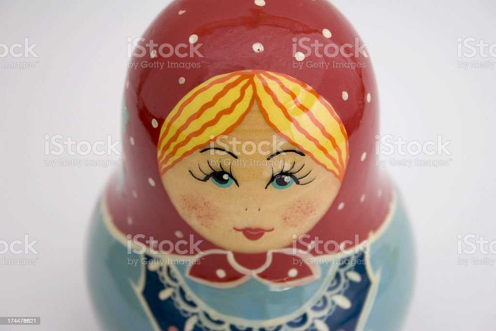 Russian toy doll stock photo