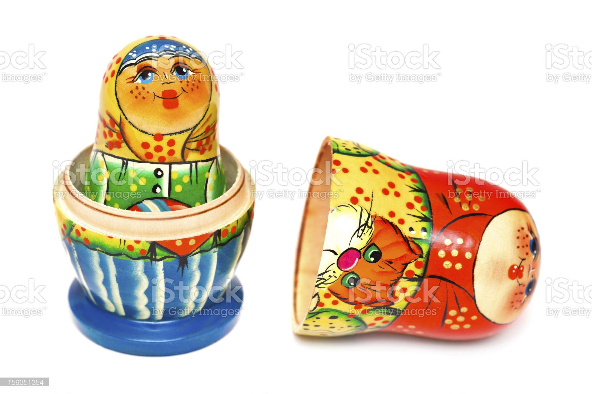 Russian toy matrioska royalty-free stock photo