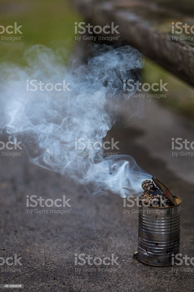 Russian traditional anti-mosquito method stock photo