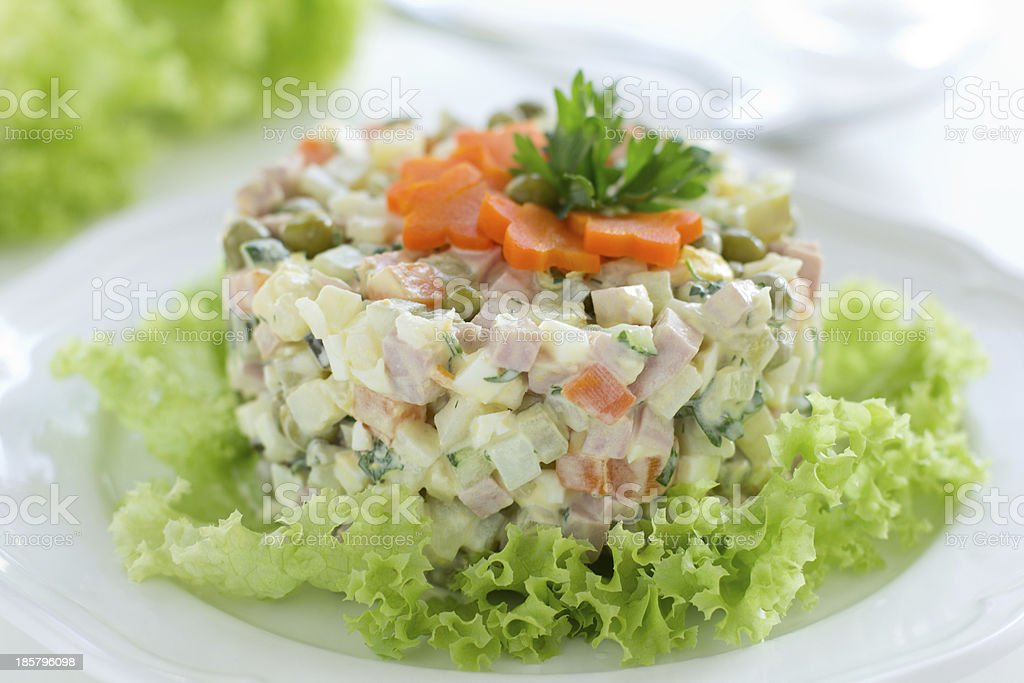 Russian traditional salad royalty-free stock photo