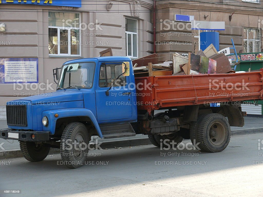 Russian truck in the street royalty-free stock photo