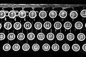 Russian Typewriter Keys