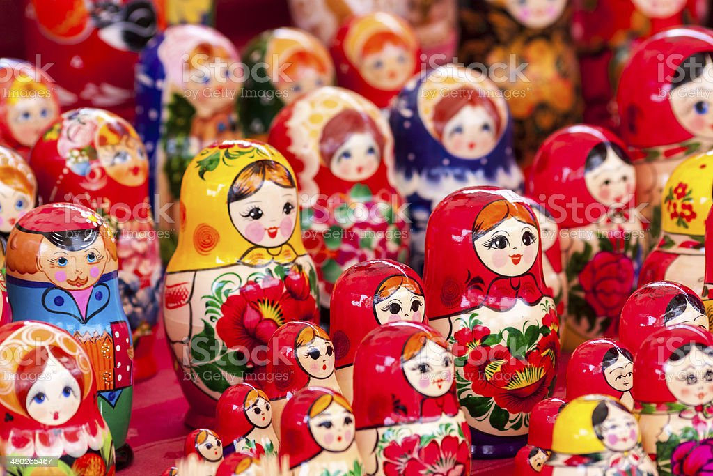 Russian Ukrainian Dolls stock photo