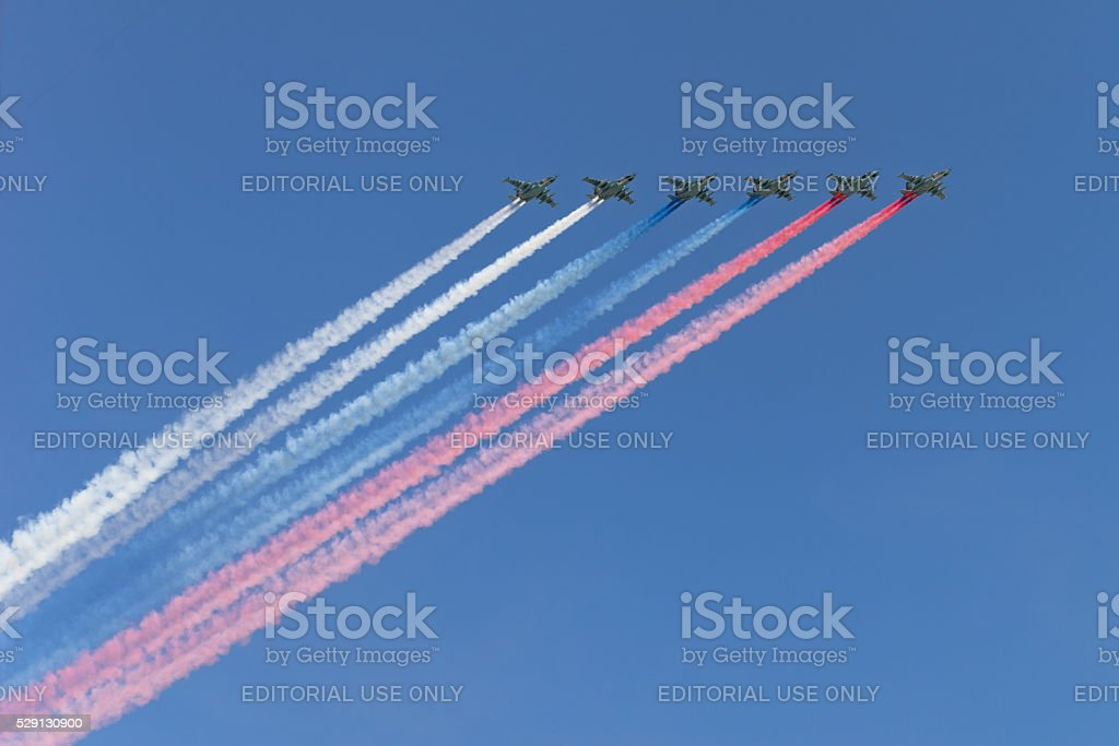 Russian Victory Day Parade stock photo