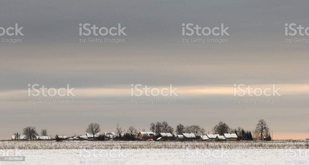 Russian winter. stock photo