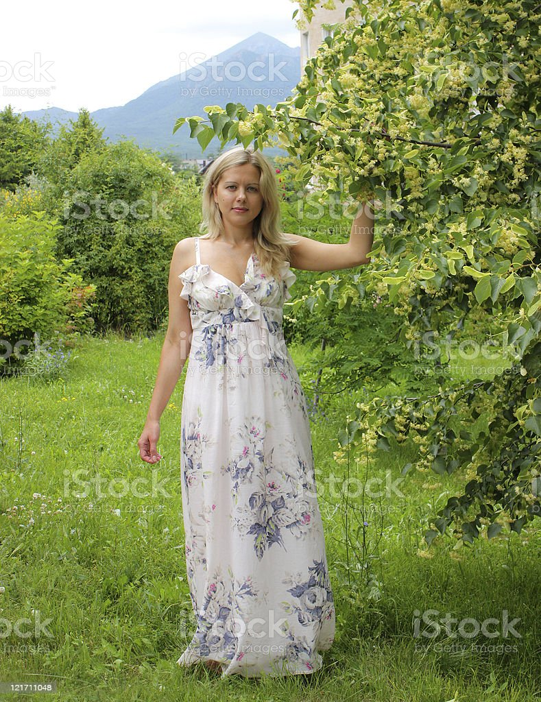 Russian woman. stock photo