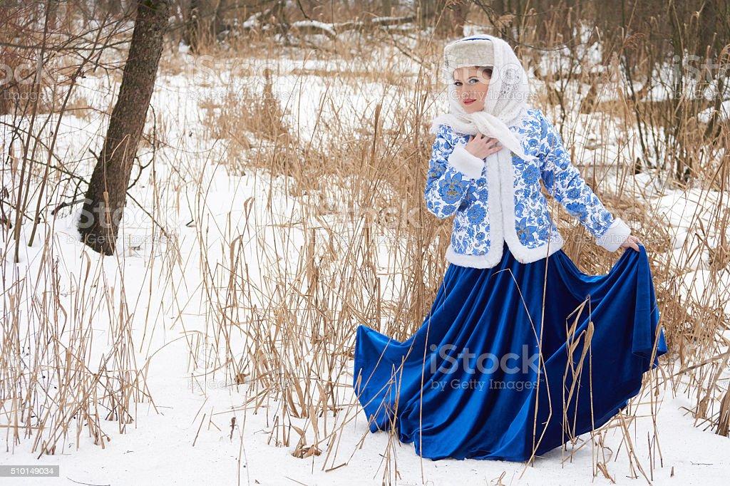 Russian young woman stock photo