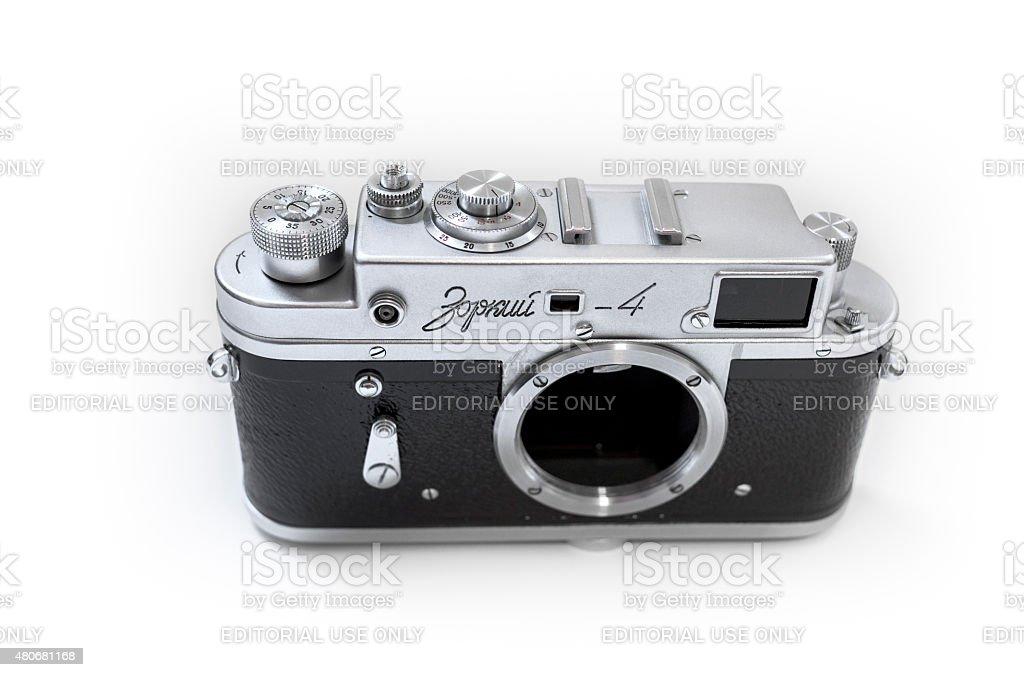 Russian Zorki 4 rangefinder 35mm film camera stock photo