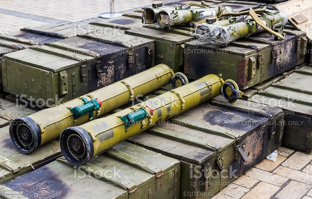Russia's flame thrower 'Shmel' stock photo