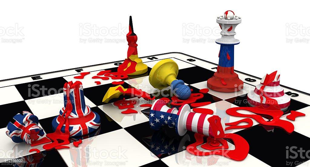 Russia's victory in geopolitics. Concept stock photo