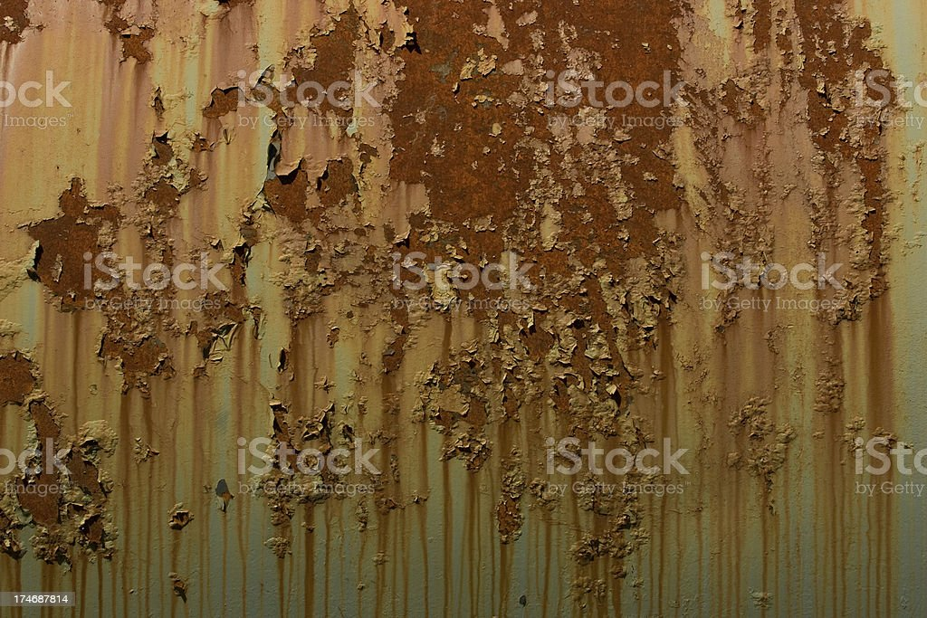Rust and Green Paint royalty-free stock photo