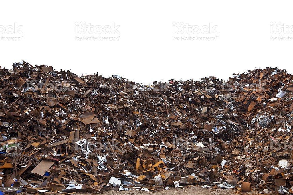 Rust and metal scrap royalty-free stock photo