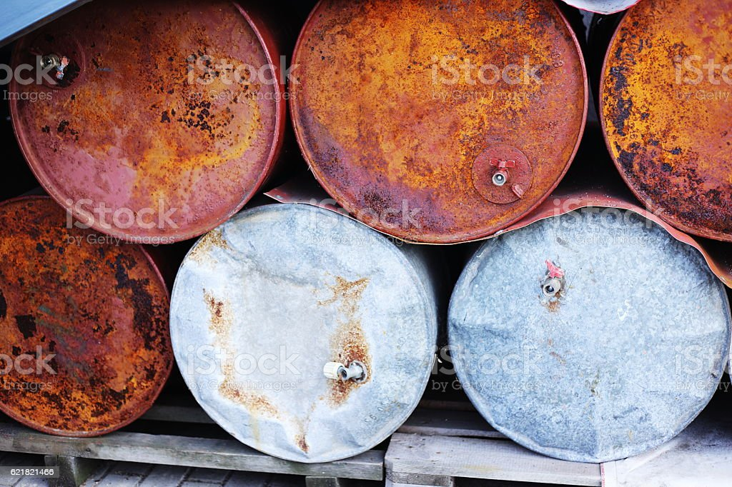 rust and old metal barrel royalty-free stock photo