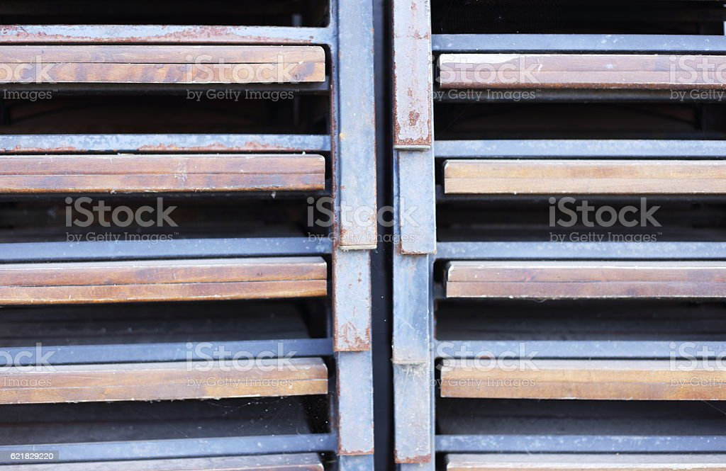 rust and old metal shelfs royalty-free stock photo