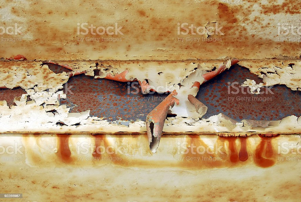 Rust and paint stock photo