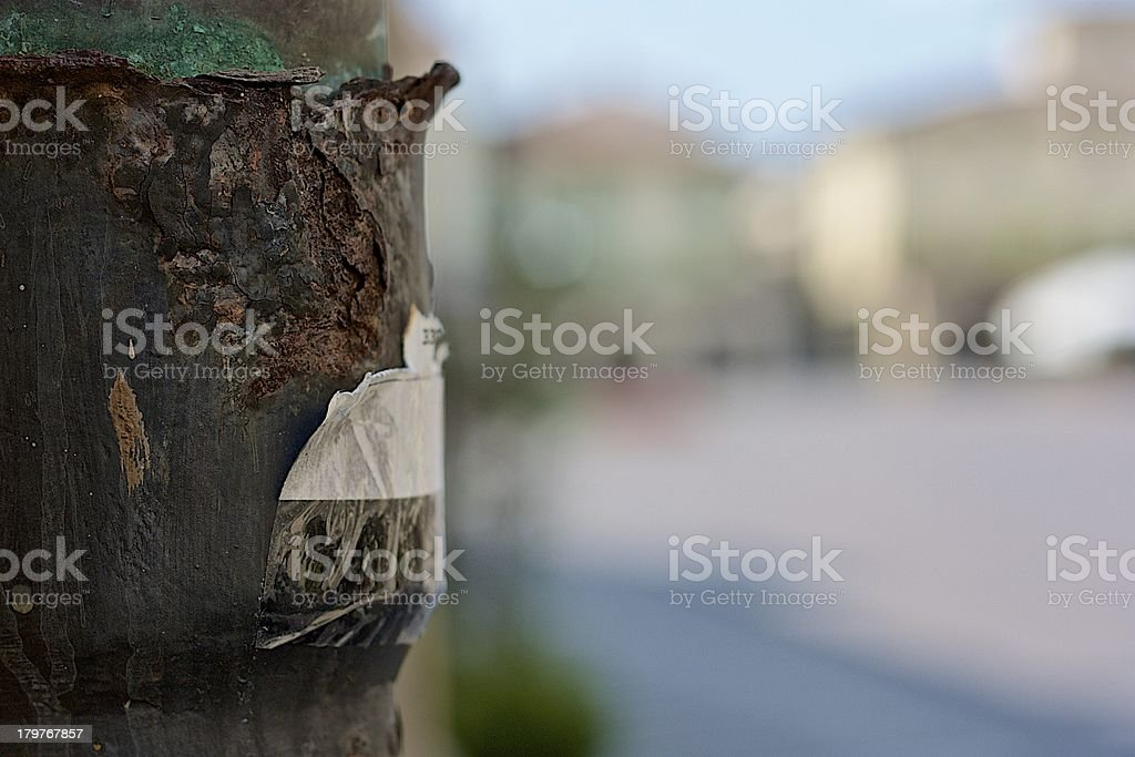Rust at a square royalty-free stock photo