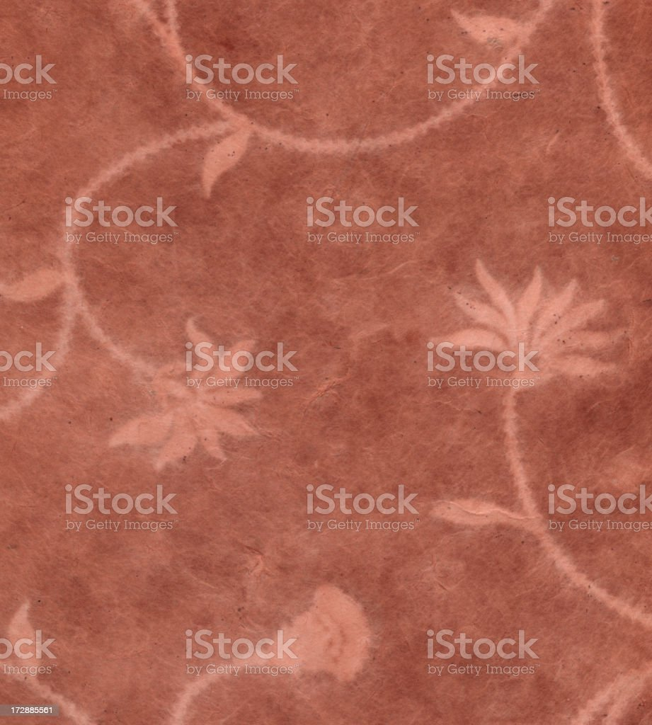 rust color art paper with flowers royalty-free stock photo