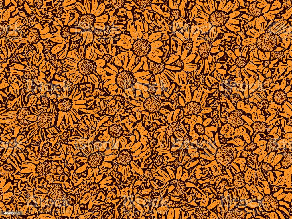 Rust Flower Pattern Background stock photo