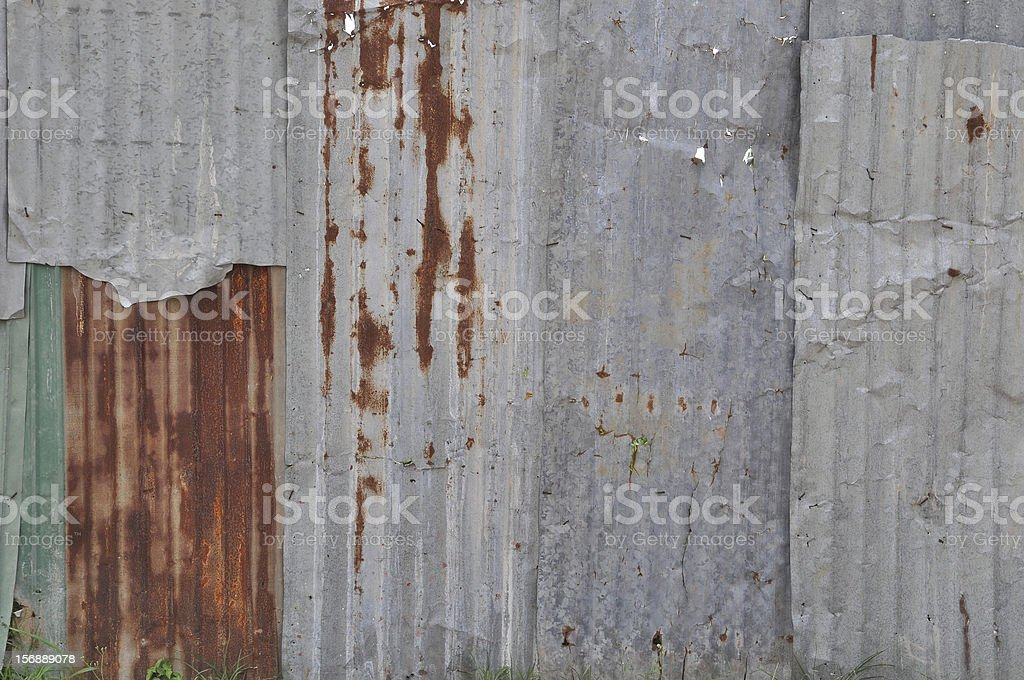 Rust galvanized royalty-free stock photo