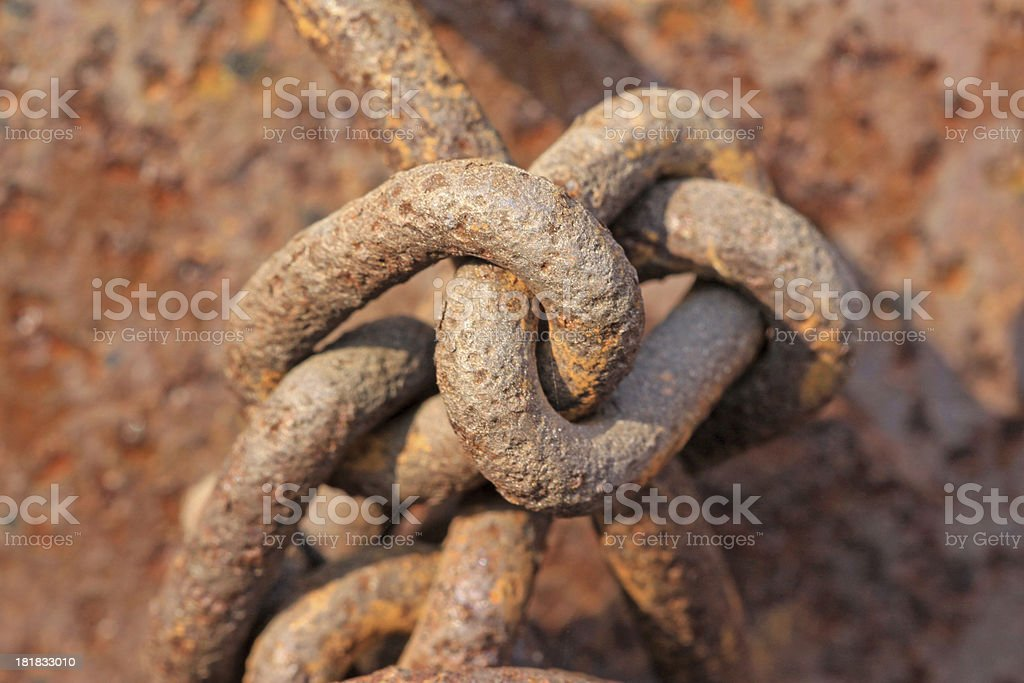 rust iron chains royalty-free stock photo