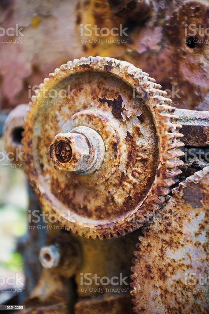 Rust old gears stock photo
