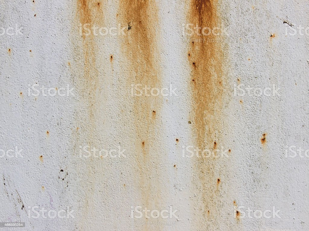 Rust on a painted metal plate stock photo